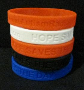 Autism Awareness Wristbands, Help Support Hope Saves the Day on AutismRadio.org