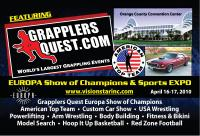 Greatest Grappling Show on Earth comes to Europa Orlando on April 16-17, 2010