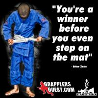 Winner Before You Step On The Mat Motivational Quote by Brian Cimins